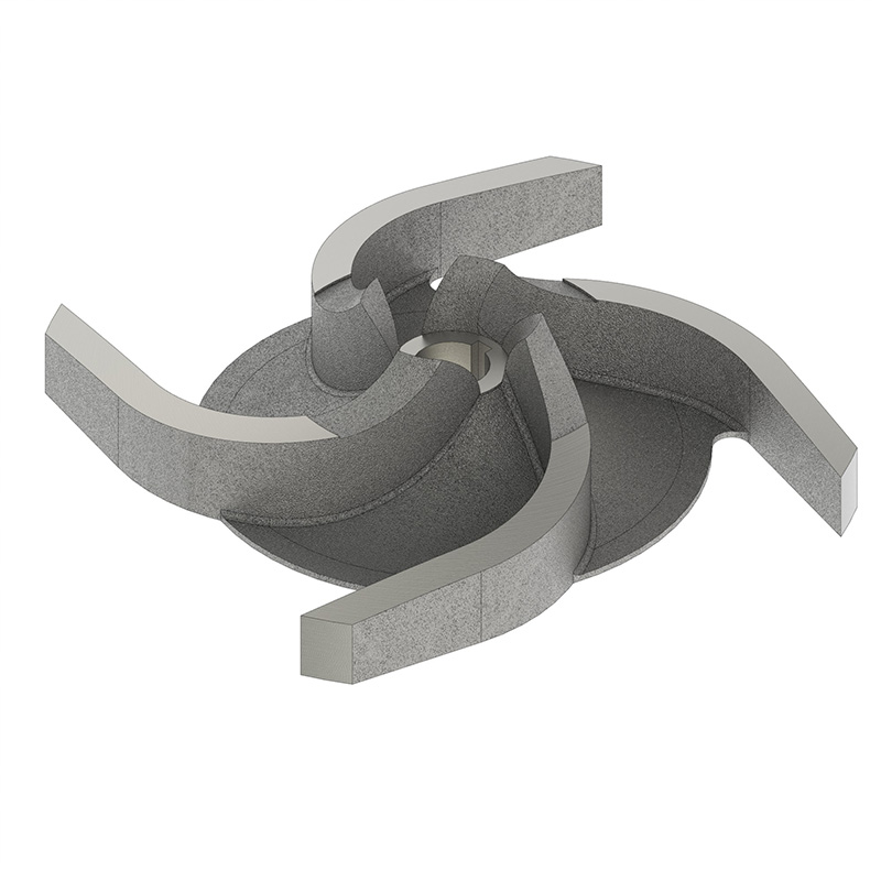 Iron Impeller for End Suction Heavy Duty Open and Enclosed Impeller Pump