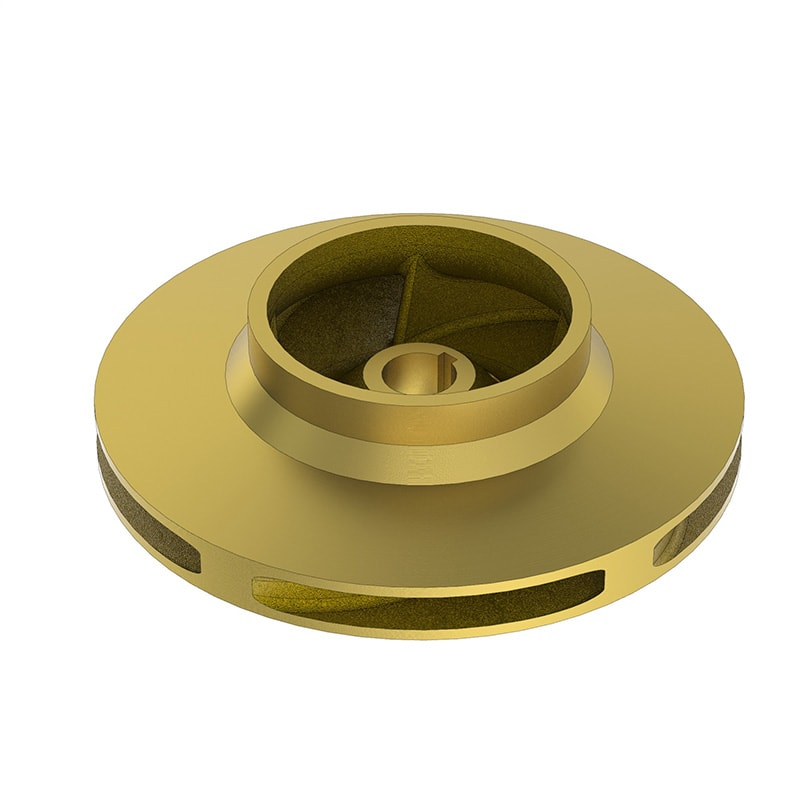 Brass Impeller for an End Suction Heavy Duty Open and Enclosed Impeller Pump