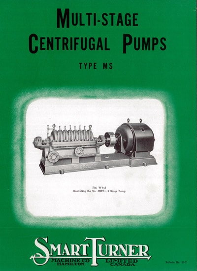 Cover of historical Multi-Stage Centrifugal Pump Brochure