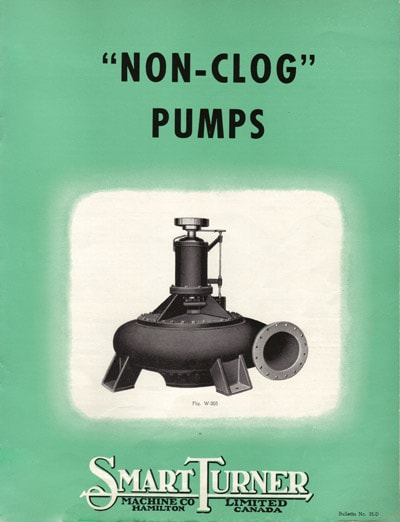 Cover of historical Non-Clog Pumps brochure