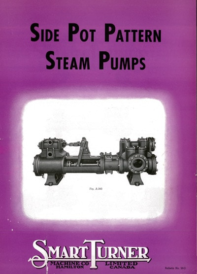 Historical Cover of Side Pot Pattern Steam Pumps Brochure