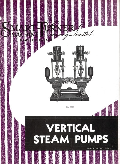 Historical cover of Vertical Steam Pumps brochure